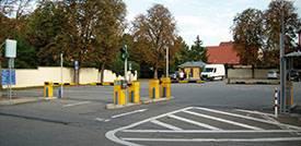 Parken in Schwetzingen am alten Messplatz