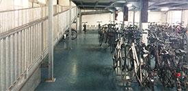 Fahrrad abstellen in Mannheim