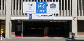 Parkhaus P3 am Bahnhof Mannheim