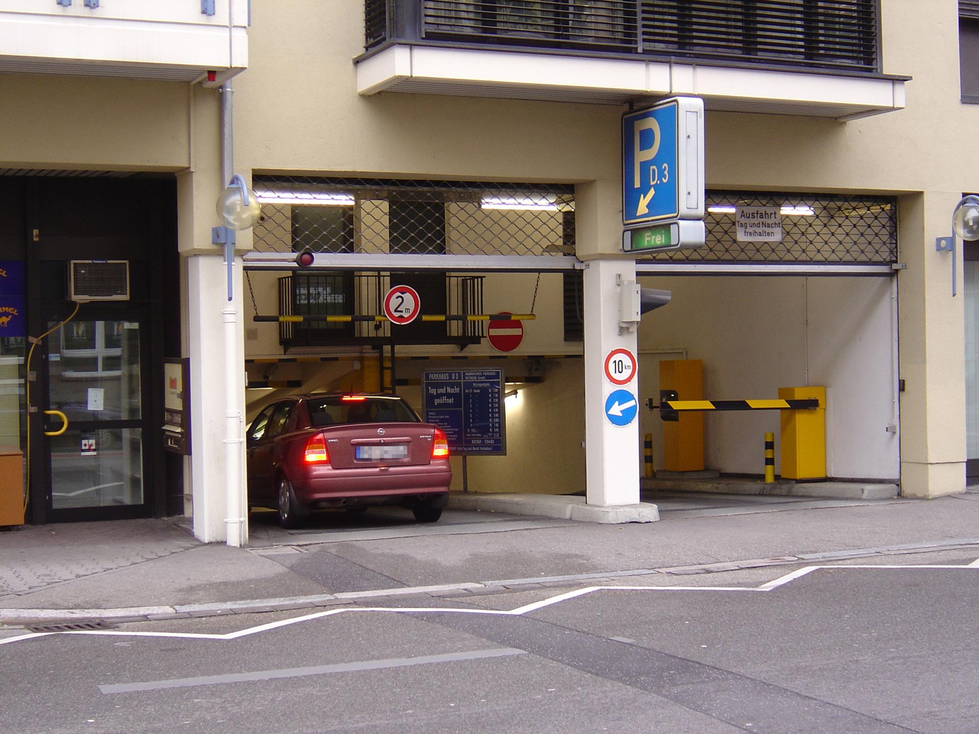Parkhaus N1 Mannheim
